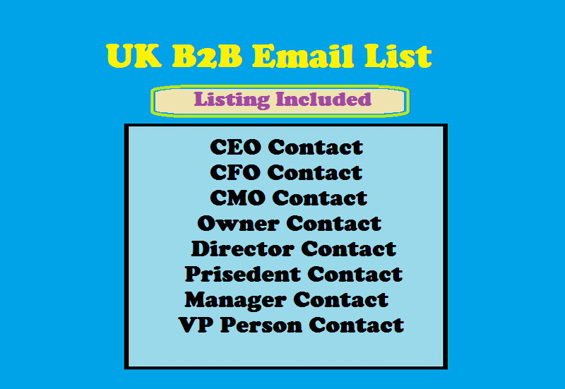 UK B2B Email List